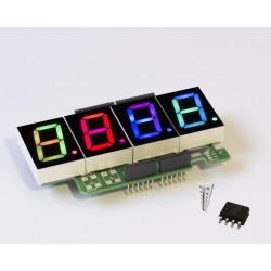 RGBDigit Shield 4x 1'RGBDigit + Temp sensor (LM92)