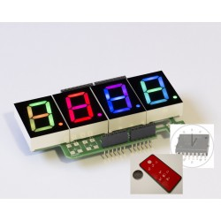 RGBDigit Shield 4x 1'RGBDigit + clock (DS3231SN) + IR set