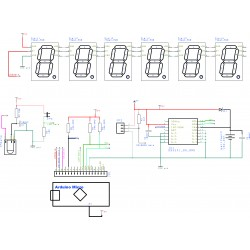 RGBDigit 6 digit clock kit