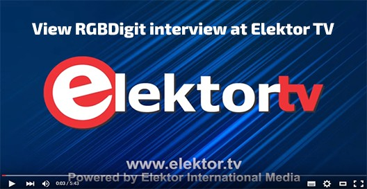 View RGBDigit interview at Elektor TV